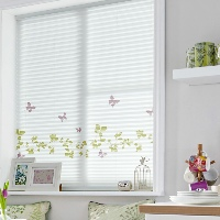 Bring the Summer inside with Vine & Butterfly Pleated Blinds