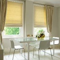 Luxurious Roman blinds create a soft atmosphere in any room