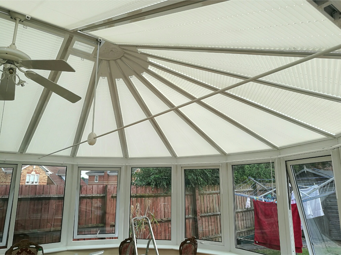 Shaped Pleated Conservatory Roof Blinds Harmony Blinds