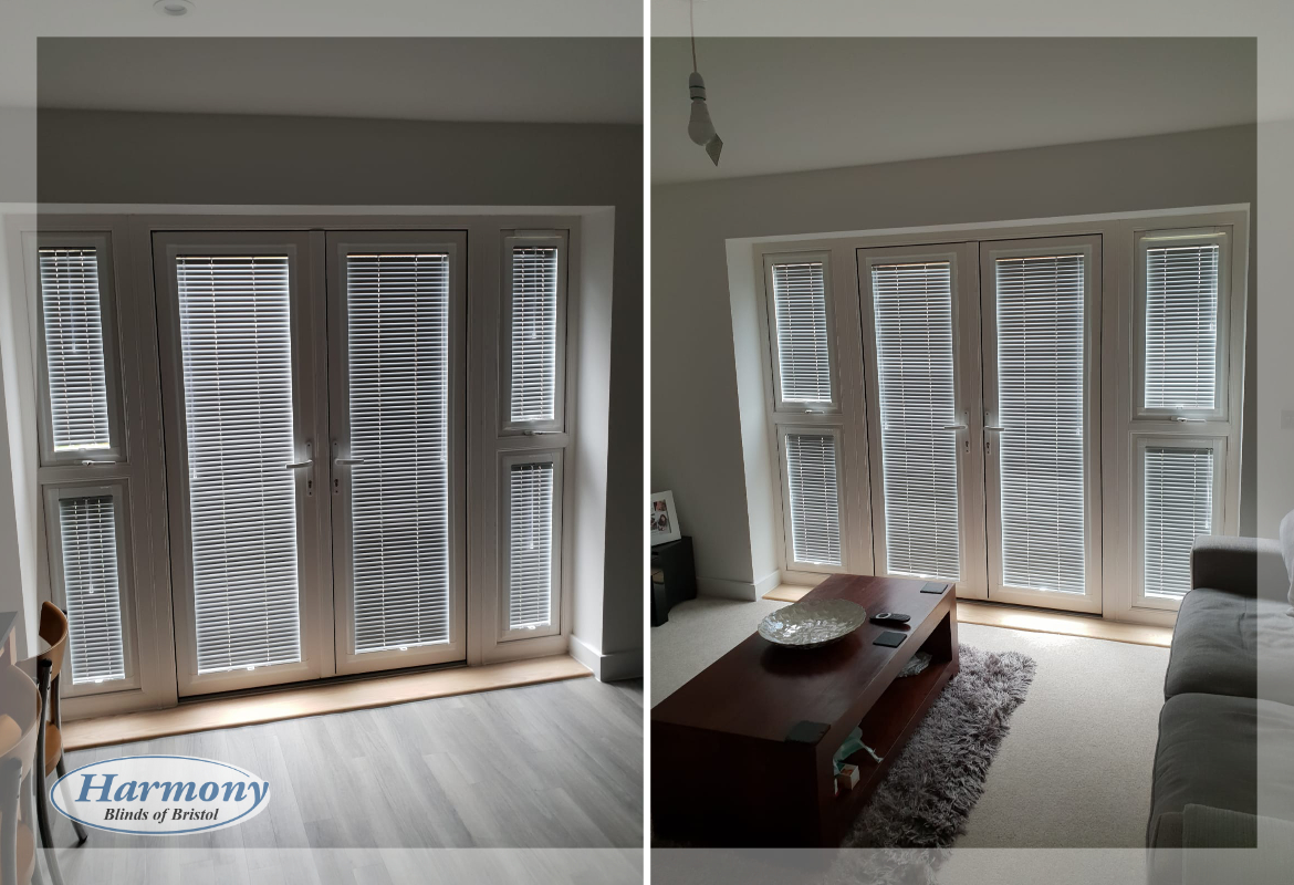 Perfect Fit Venetian Blinds On Patio Doors And Side Panels