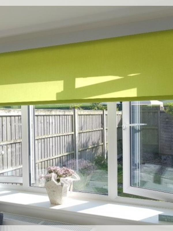 Lime Green Sense Roller Blind