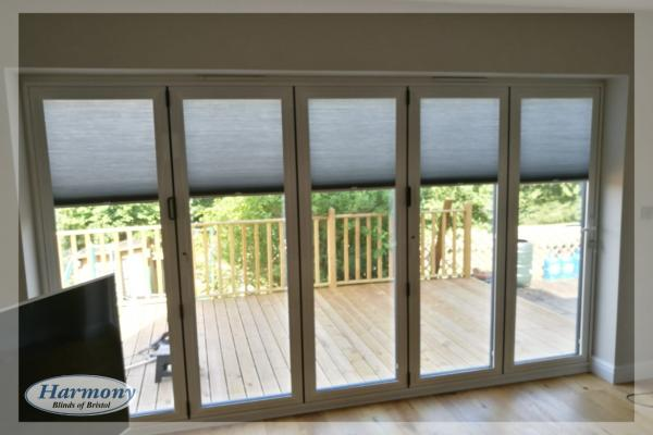 Perfect Fit HIVE Blinds on Bi-Fold Doors