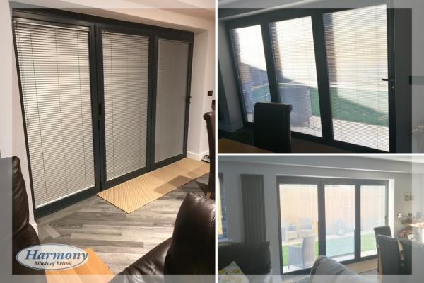 Perfect Fit Venetian Blinds with Anthracite Grey Frames