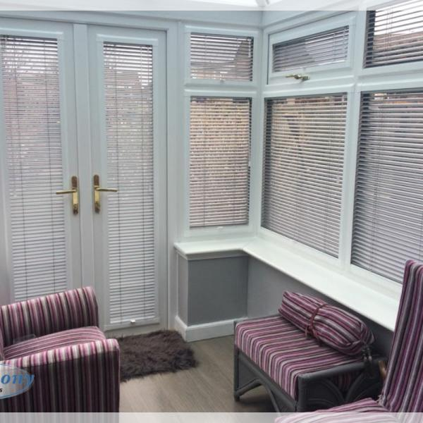 Perfect Fit Venetians in a Conservatory