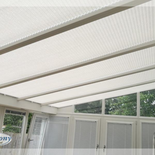 Pleated Conservatory Roof Blinds by Harmony