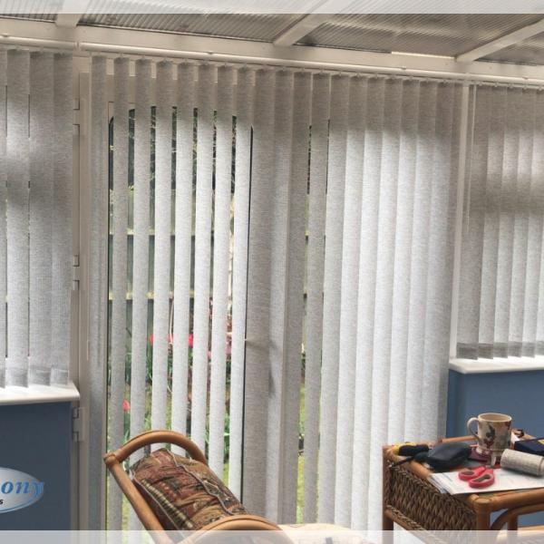 Shade and Privacy - Vertical Blinds for a Conservatory
