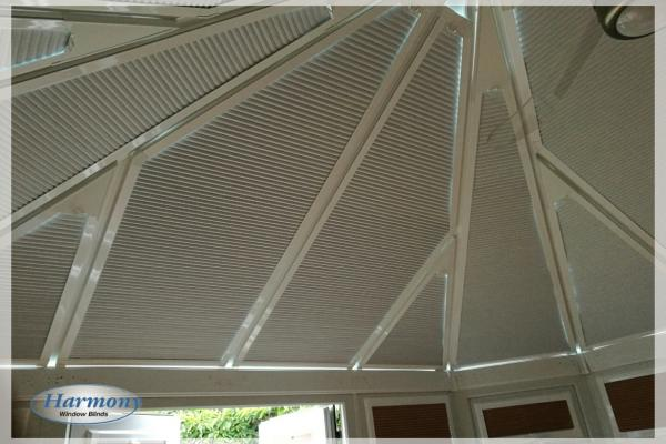 Shaped Perfect Fit Pleated Conservatory Roof Blinds