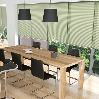 Sheer Pleated Blinds allow more light to enter your room whilst maintaining privacy