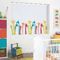 We also offer a wide range of Children's Designs in Blackout Roller Blinds