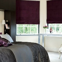 Our blackout lined Roman blinds are the perfect choice for Bedroom blinds