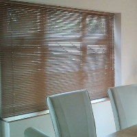 Our Wood Effect range of Venetian Blinds beautifully mimics Real Wood