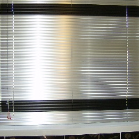 Alternate different coloured slats for a blind that is unique