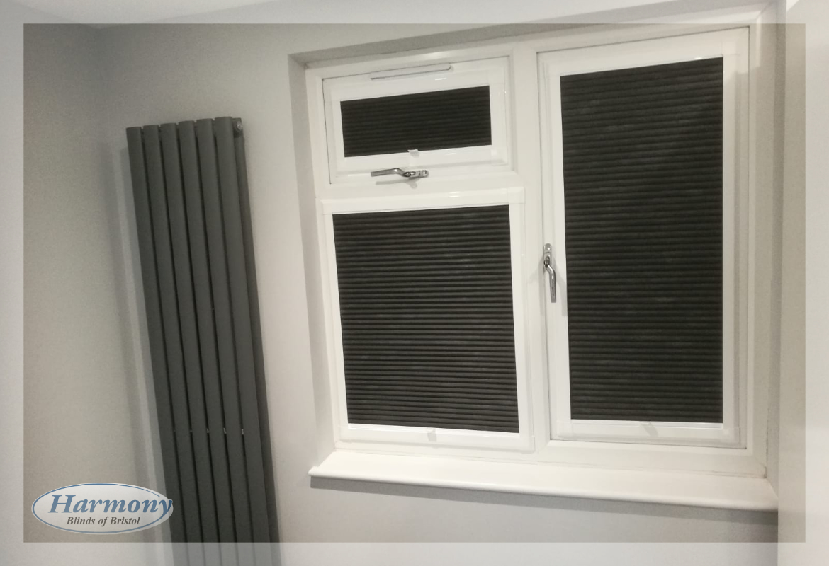Black Perfect Fit Hive Pleated Blinds