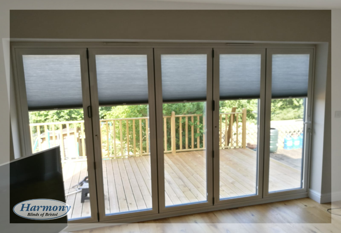 Perfect Fit Hive Blinds On Bi Fold Doors Harmony Blinds