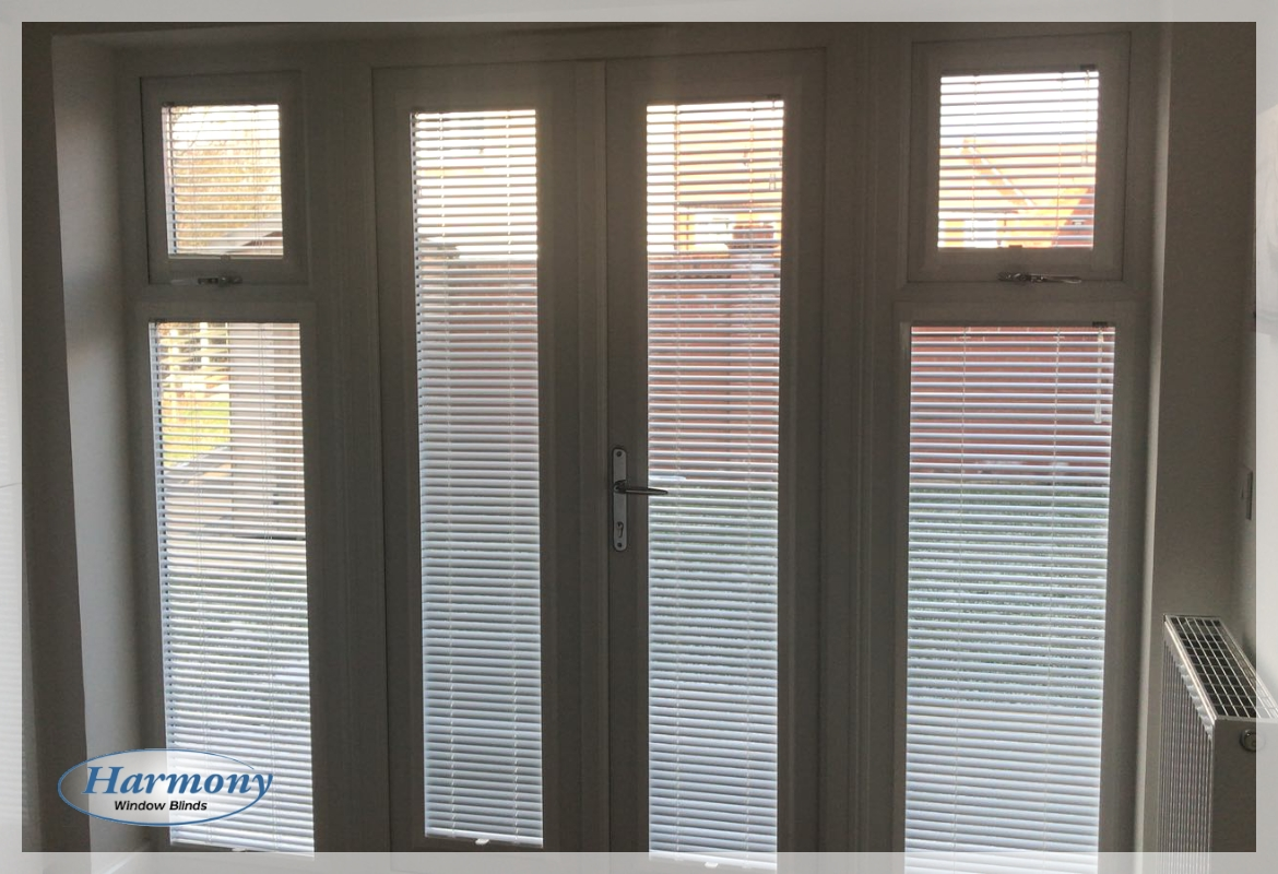 Perfect Fit Venetian Blinds on Doors and Side Panels