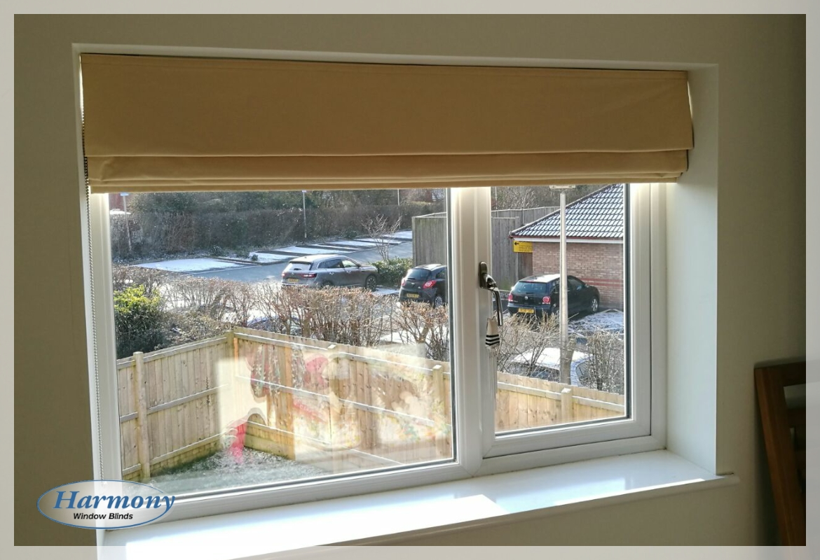 Beige Roller Blind by Harmony Blinds of Bristol