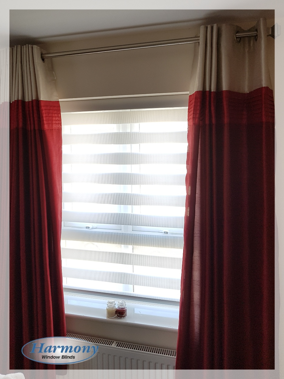 White Day & Night Blind by Harmony Blinds of Bristol